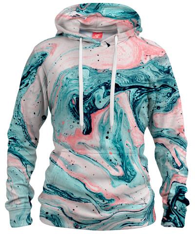 MARBLED TIDE Womens hoodie