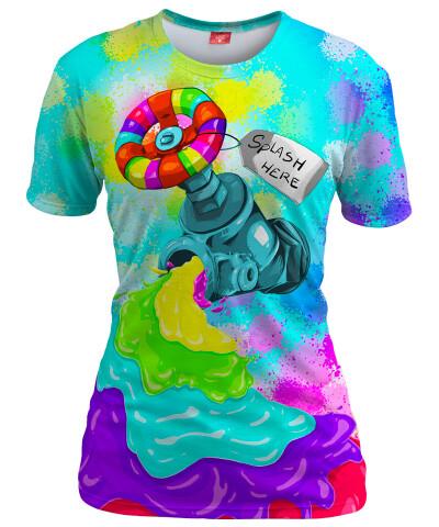 Koszulka damska RAINBOW SPLASH