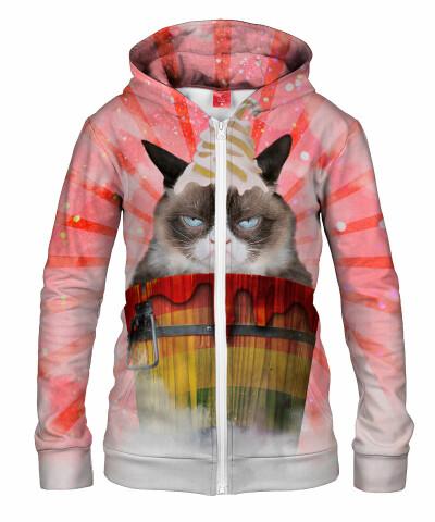 Damska bluza z zamkiem GRUMPY CAT