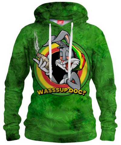 Damska bluza z kapturem WASSSUP DOC?