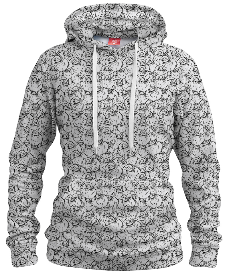 FOREVER ALONE Womens hoodie