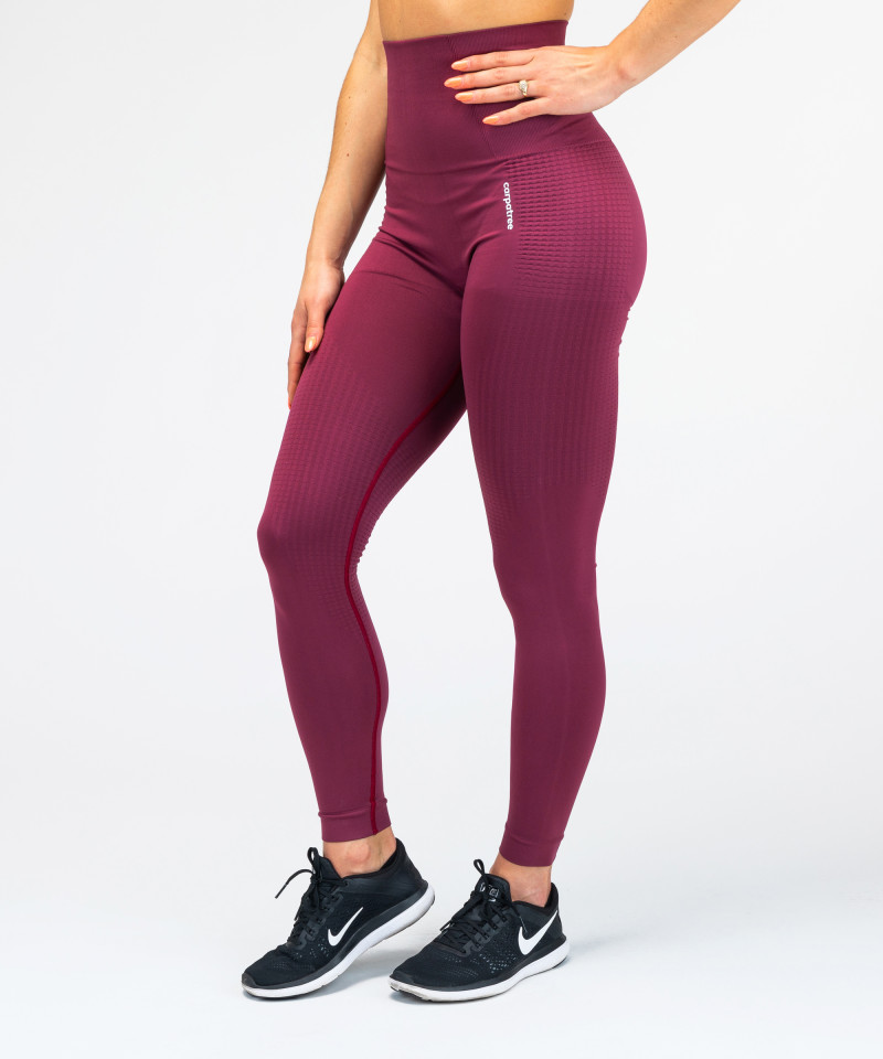 Burgundy Model One Seamless Leggings 2