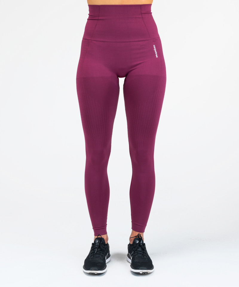 Burgundy Model One Seamless Leggings 4
