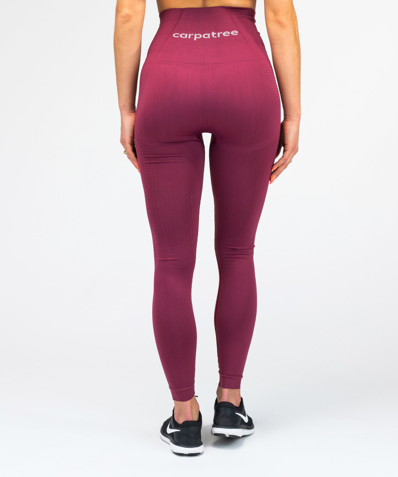 Burgundy Model One Seamless Leggings 5