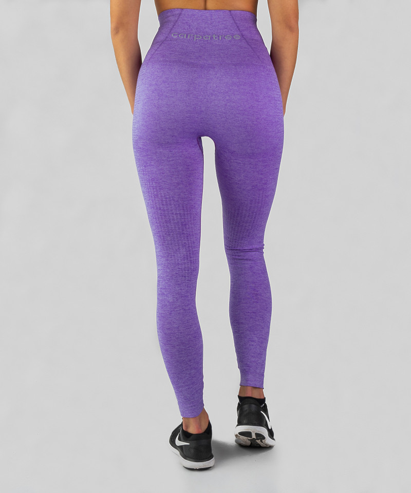 Lila nahtlose Leggings Model One 5