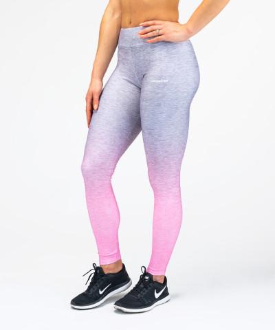 Szaro - różowe legginsy Ombre
