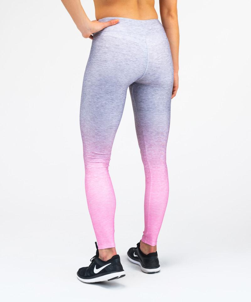 Grey Pink Ombre Leggins 3
