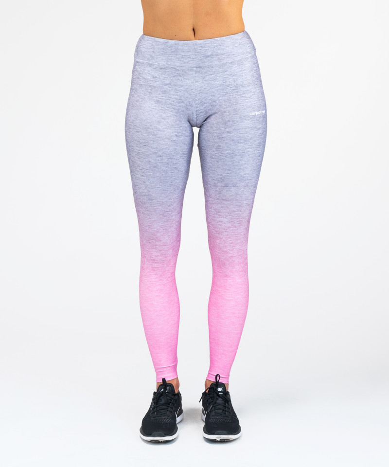 Grey Pink Ombre Leggings 4