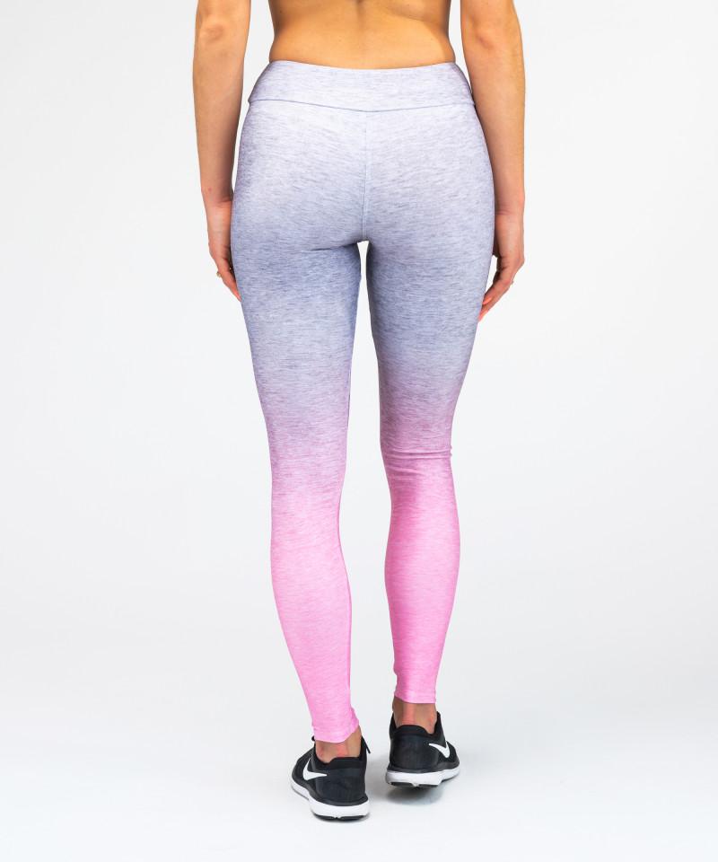 Grey Pink Ombre Leggings 5