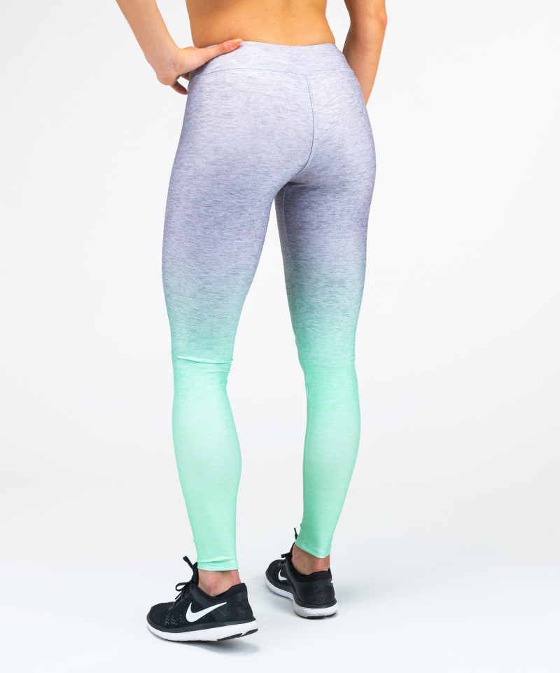 Grey Mint Ombre Leggings 3