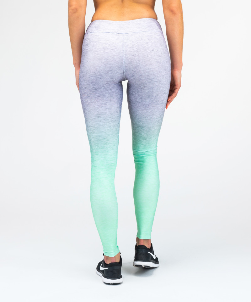 Grey Mint Ombre Leggings 5