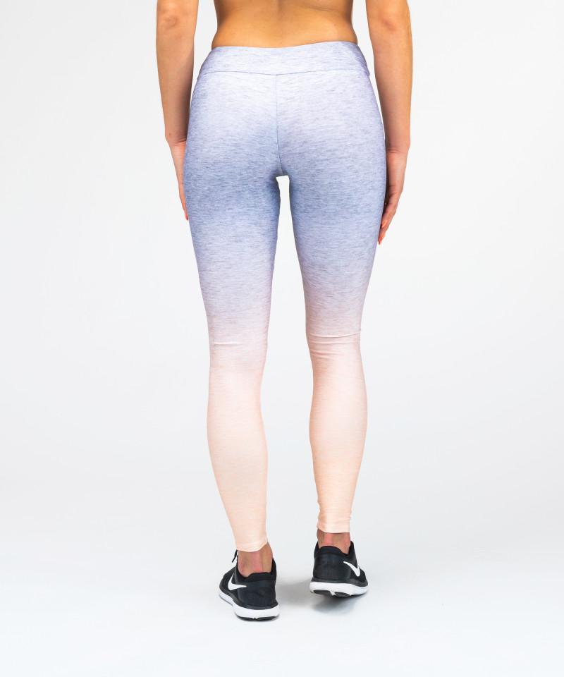 Grey Orange Ombre Leggings 5