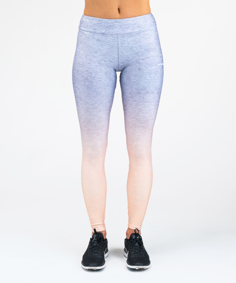 Grey Orange Ombre leggings 4
