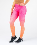 Różowo - pomarańczowe legginsy Ombre 2
