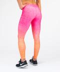 Różowo - pomarańczowe legginsy Ombre 3