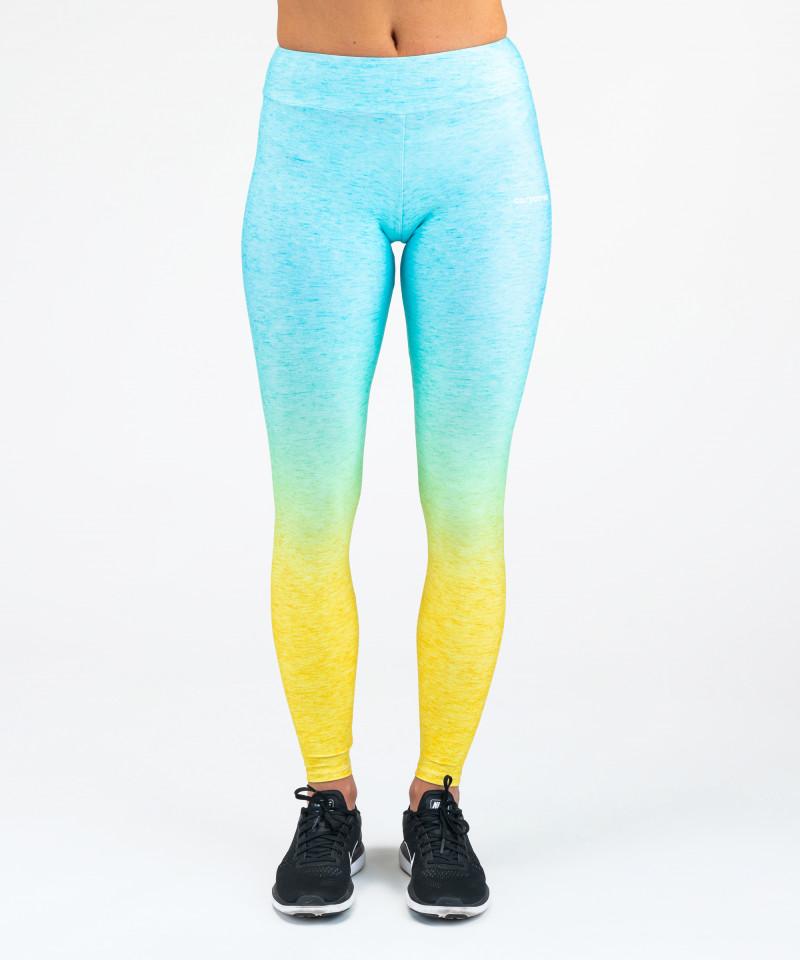 Morsko - żółte legginsy Ombre 4