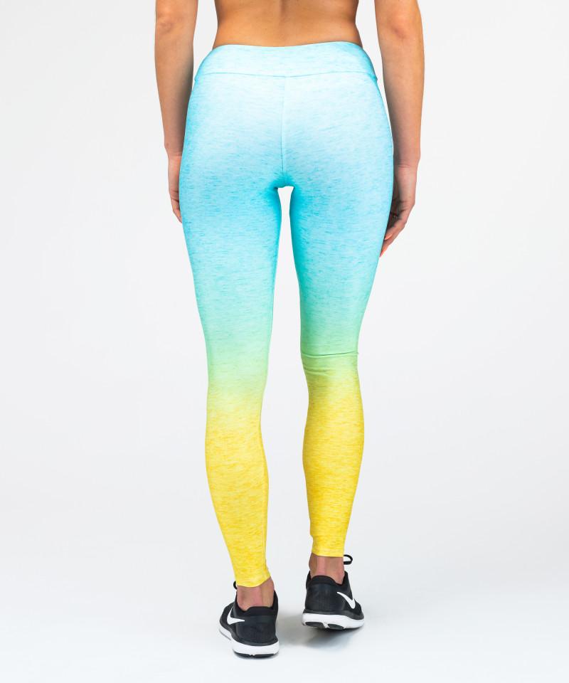 Morsko - żółte legginsy Ombre 5
