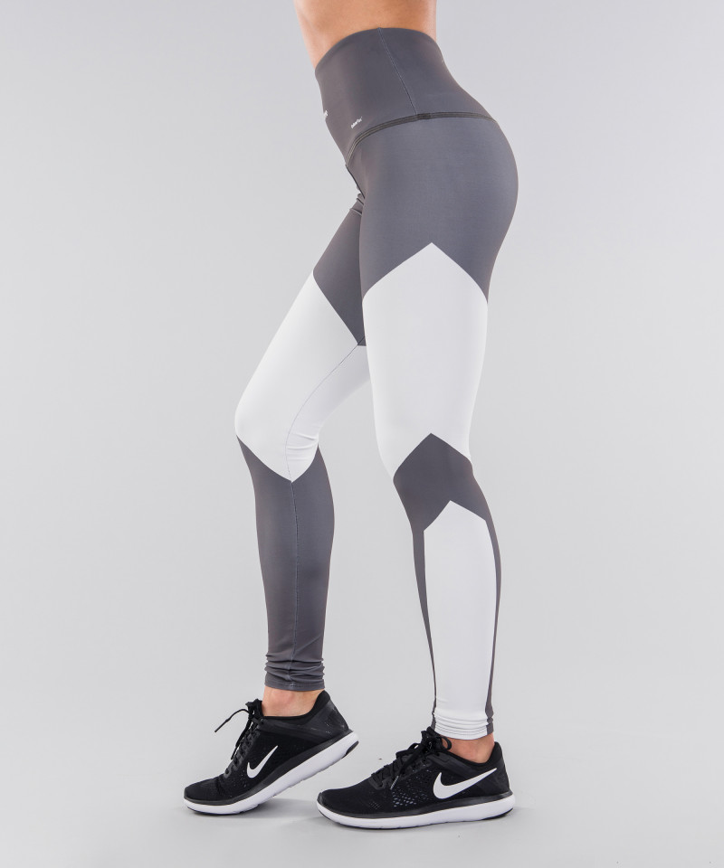 Grey&White Highwaist Leggings 2