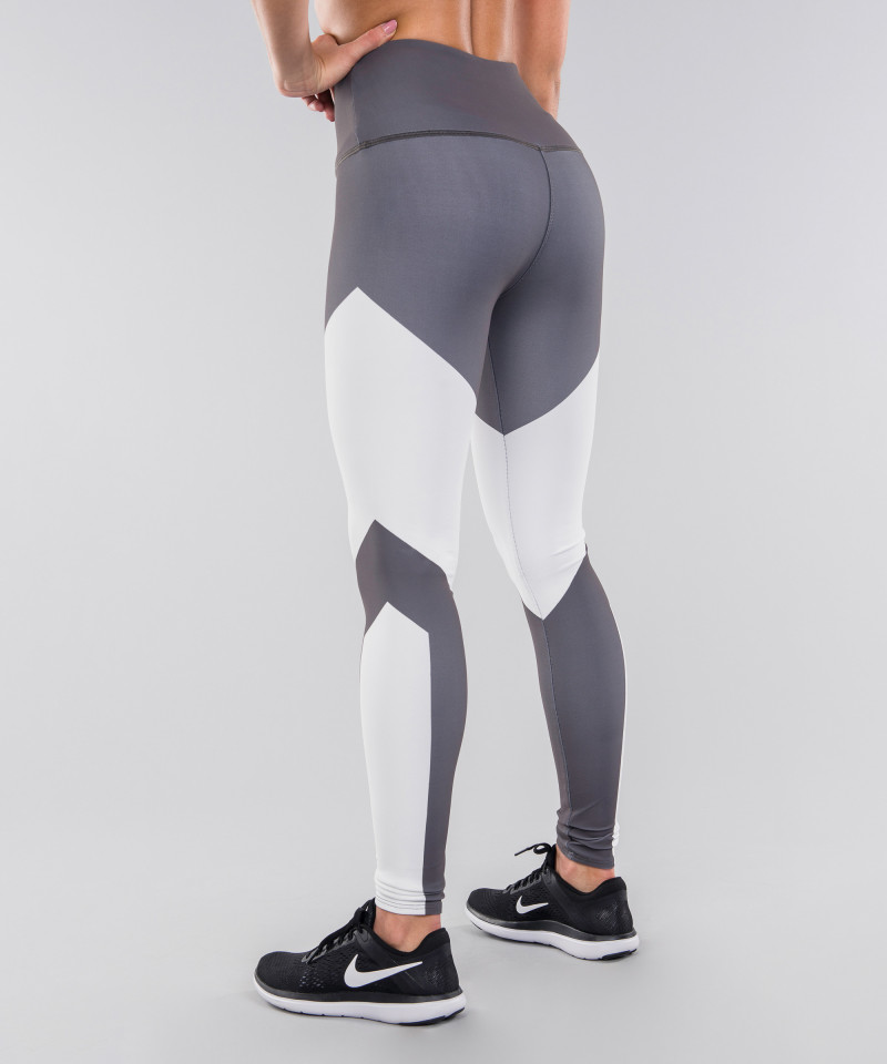 Grey&White Highwaist Leggings 3