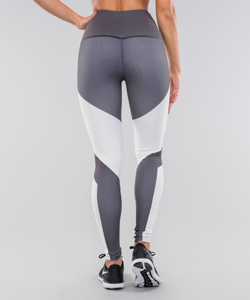 Grey&White Highwaist Leggings 5
