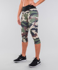 Army camo&black belt legginsy 3/4