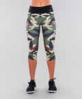Army camo&black belt legginsy 3/4 4