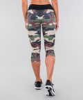 Army camo&black belt legginsy 3/4 5