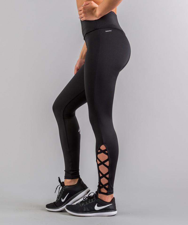 Czarne legginsy Crosses 2