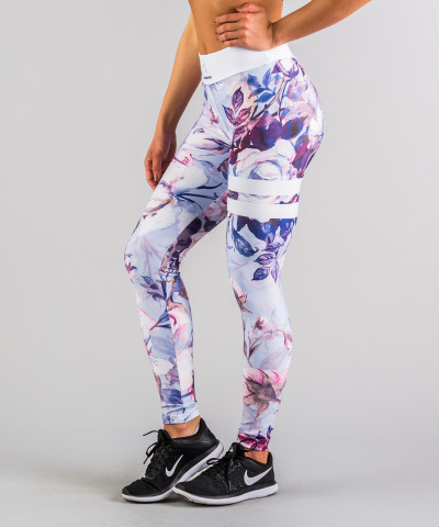 Pastellrosa Leggings mit hoher Taille