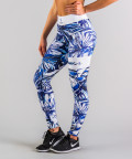 Niebieskie legginsy Tropical