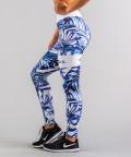 Niebieskie legginsy Tropical 2