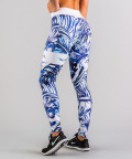 Niebieskie legginsy Tropical 3