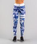 Niebieskie legginsy Tropical 4