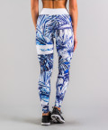 Niebieskie legginsy Tropical 5