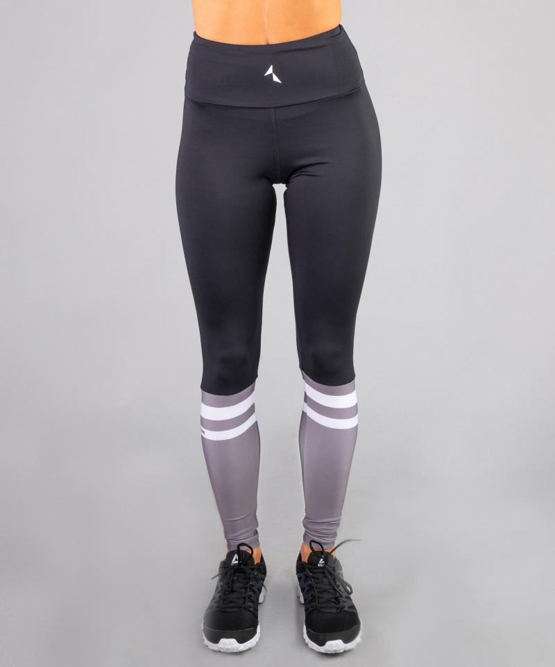 Damen Schwarze Socks Leggings mit hoher Taille 3