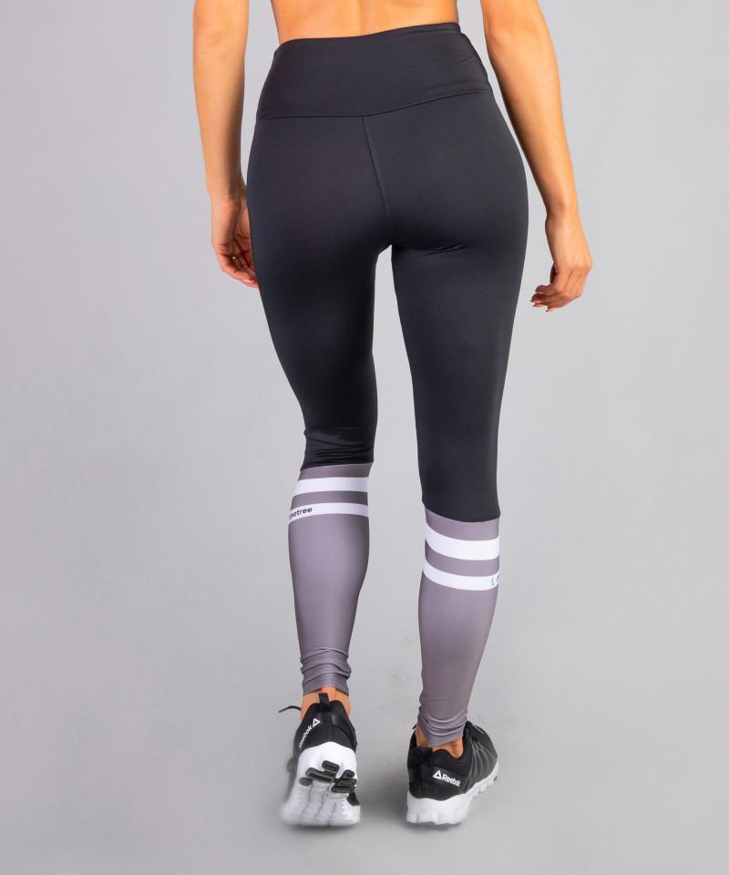 Damen Schwarze Socks Leggings mit hoher Taille 5