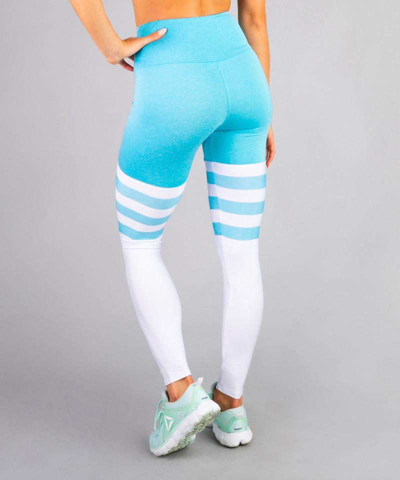 Niebieskie legginsy High Socks 3