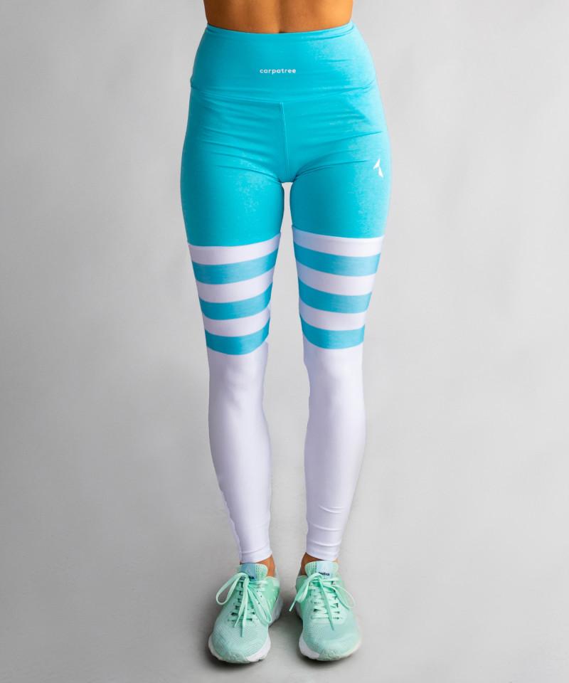 Niebieskie legginsy High Socks 4
