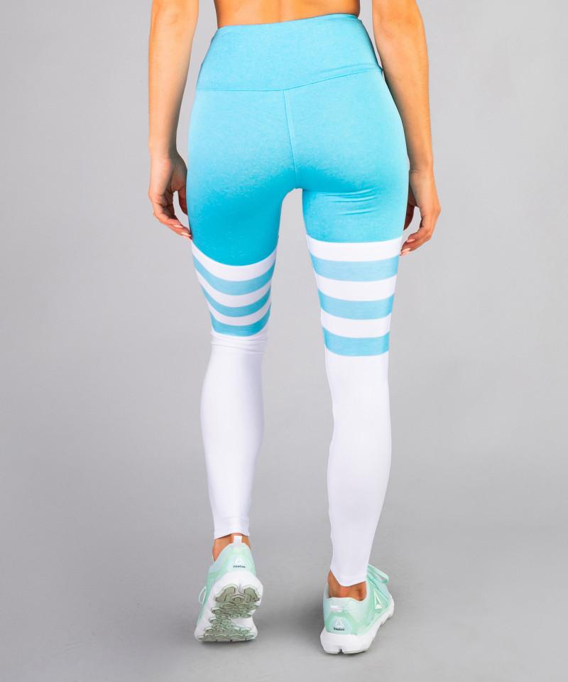 Niebieskie legginsy High Socks 5