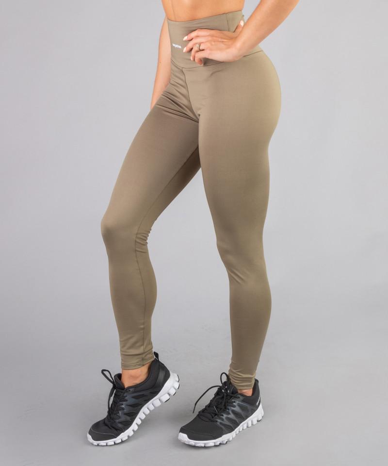 Khaki Classic Highwaist Leggings