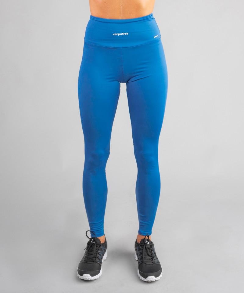 Klasyczne legginsy kobaltowe z wysokim stanem 2