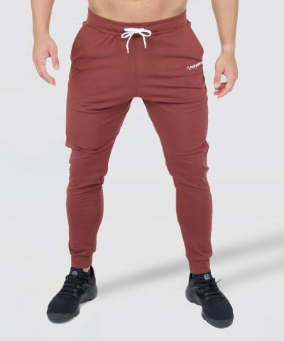 Burgundowe męskie joggery 1