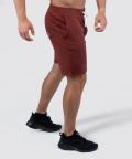 Burgundy Knit Shorts 2