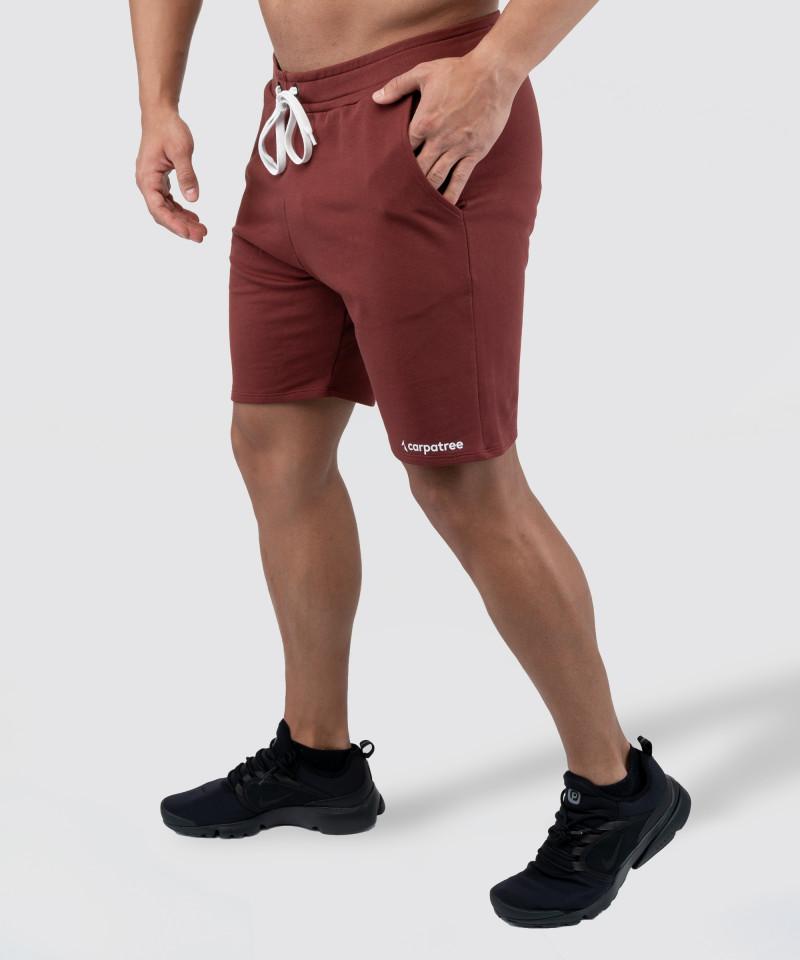 Burgundy Knit Shorts 3