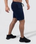 Navy Knit Shorts 2