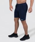 Navy Knit Shorts 3