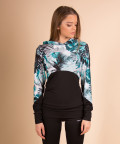 Floral bluza z kapturem