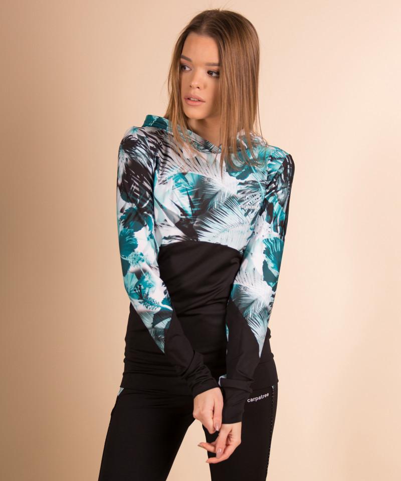 Floral bluza z kapturem 2
