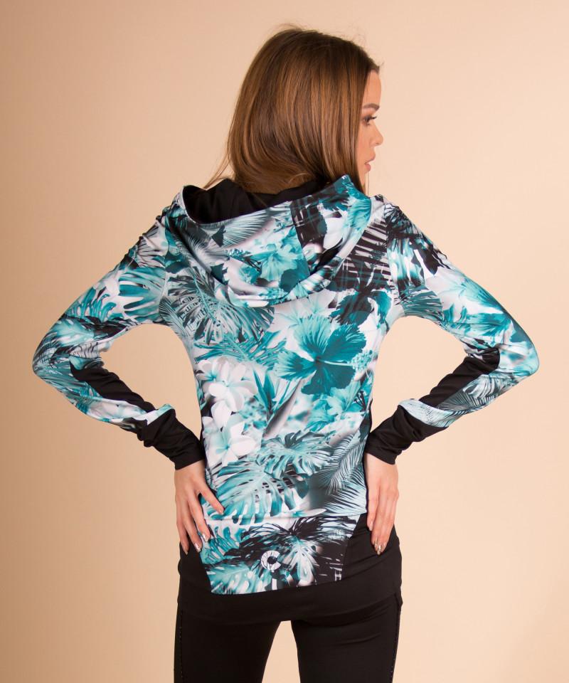 Floral bluza z kapturem 4