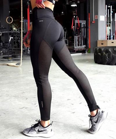 Czarne legginsy Hyperion Performesh